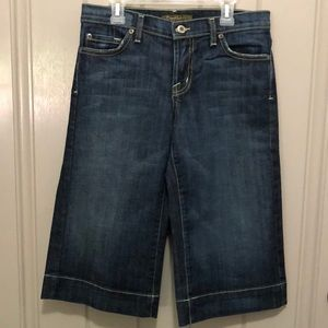 Like New David Kahn Wide Leg Crop Jeans (SZ 27)
